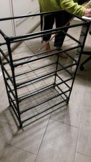 Schuhregal 90x60x30 cm tief metall