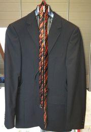 6403b953d94e45 Esprit Stripe Jacket Sakko 44 schwarz inkl. Krawatte Neuwertig