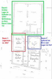 20 m² Kellerraum als Lager