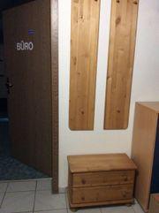 Garderobe massivholz 2-teilg