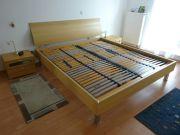 Modernes Buche Doppelbett