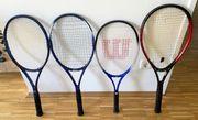 Diverse Tennisschläger in TOP-Zustand