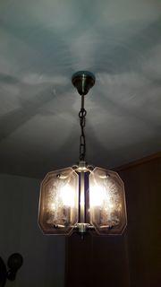 1 elegante Deckenlampe 3x Wandleuchten