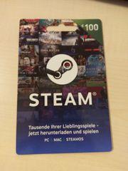 Steam 100 Euro Guthaben Karte Geschenk Gutschein gebraucht kaufen  Stadtbergen