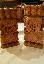 Holzskulpturen aus Spanien,