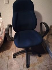 Bürostuhl Schreibtischstuhl Büro-Drehstuhl dunkelblau