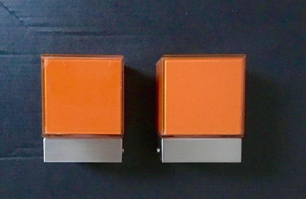 Moderne Lampen 93 : Moderne deckenleuchte würfel orange s`luce dice stück in