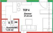 schöne ruhige 1-Zimmerwohnung 32 m2