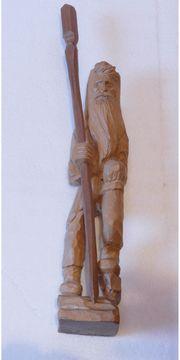 Handgeschnitzte Holzfigur, Rübezahl,
