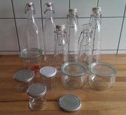Flaschen Bügelflaschen Einmachgläser
