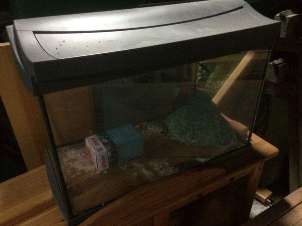 komplett aquarium mit zubehr und tisch
