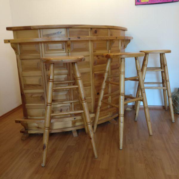 Holztheke Bar Mit Sonstige Wohnzimmereinrichtung