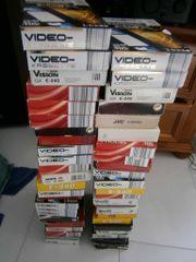 Videocassetten 47 Stück