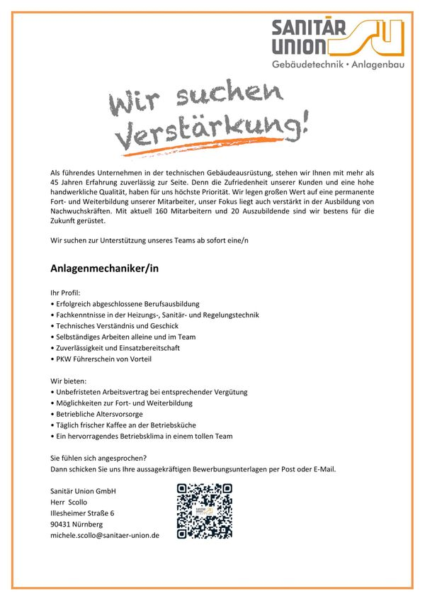 Anlagenmechaniker Mwd In Nürnberg Stellenangebote Private