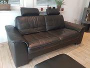 Hochwertige Echtleder Couch