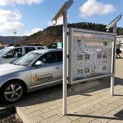 Schaukasten mit Solarzellen