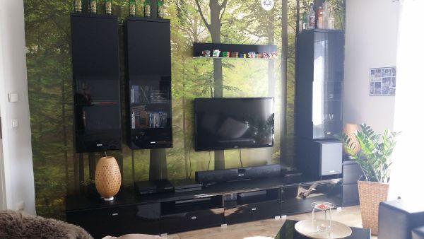 Wohnwand Schwarz Hochglanz, » Wohnzimmerschränke, Anbauwände