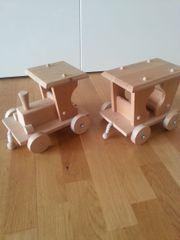 Holzzug groß mit Anhänger