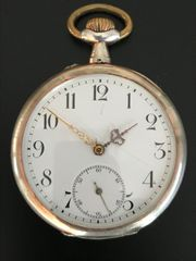 SCHWEIZER TASCHENUHR Silber 800 Mermod