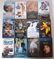 12 Original-Videos VHS Sammlung Tom