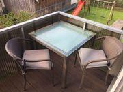 Rattan Balkon- oder Gartengarnitur Tisch