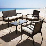 4-teilige Loungegarnitur für Garten Balkon