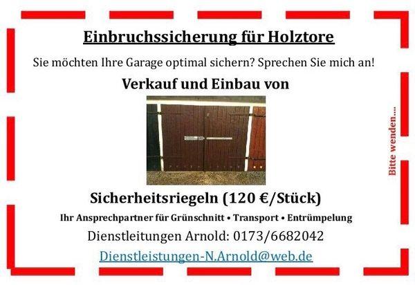 Garage Sichern Holz » Türen, Zargen, Tore, Alarmanlagen