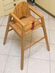 Massivholz - Holz Kinderhochstuhl - Hochstuhl - Babystuhl