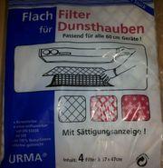 Dunstabzugshaube Flachfilter mit Sättigungsanzeige 57
