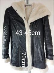 NEU Winter Jacke echtes Leder