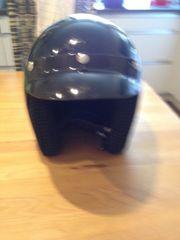 Motorradhelm schwarz Gr S 55 -