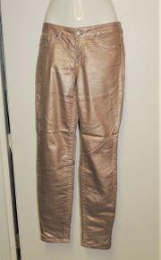 Hose in gold-metallic von Laura