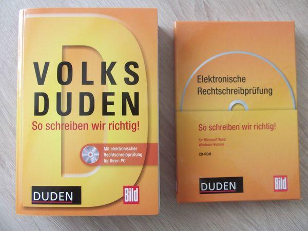 VOLKSDUDEN von Bild inkl. CD-ROM NEU - Grünstadt - Wir verkaufen hier den Volksduden von Bild inkl. CD-ROM - mit elektronischer Rechtschreibprüfung für Ihren PC - wegen Fehlkauf..Es ist nicht für unser System geeignet, von daher unbenutzt.Kann auch verschickt werden. - Grünstadt