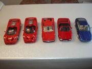 5 Modellautos 1 18 Ferrari