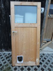 Holztür / Nebeneingangstür mit