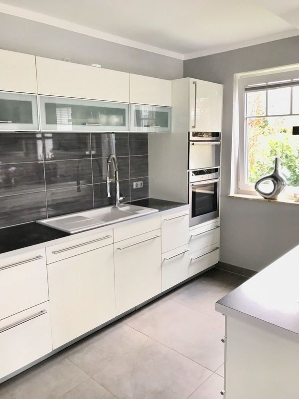 Moderne Alno Küche Komplett Küche Mit Küchenzeile Und Kücheninsel