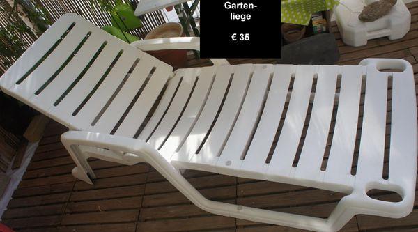 Hochwertig Weiße Gartenliege