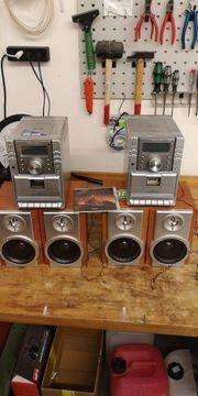 2 kleinere Musikanlagen mit Radio