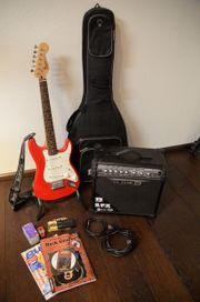 E-Gitarre Fender Squier Mini mit