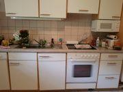 Küchenzeile weiß beige mit Geräten