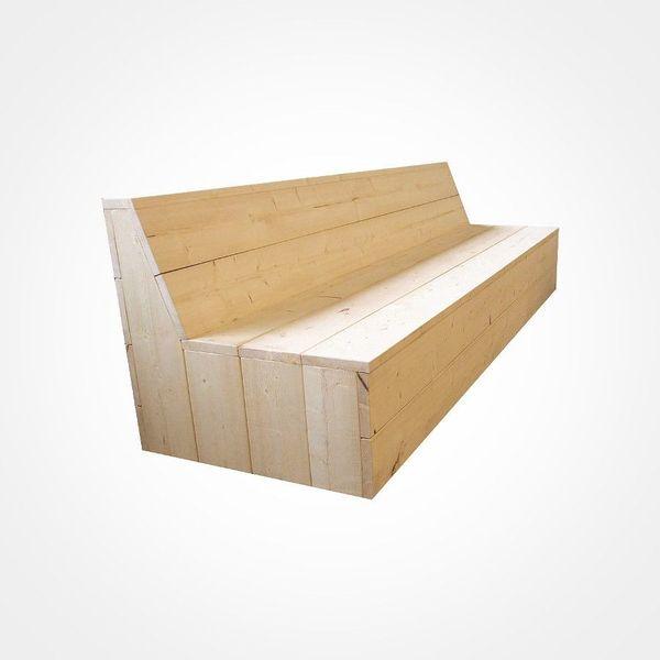 Gartenbank aus Holz, Bank aus Lärche, Gartensofa, Gartenmöbel in ...