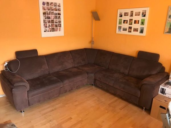 Braune Wohnzimmer Couch Polster Sessel