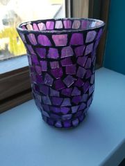 Lila Windlicht Mosaik