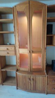 Wohnzimmerschrankwand Echtholz, zu
