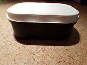 Brotkastenbox von Tupperware Farbe Blau-Weiß