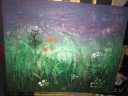 Gemälde Wildblumen Acryl auf Leinen