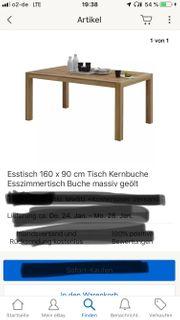 Esszimmertisch vier schwing Stühle
