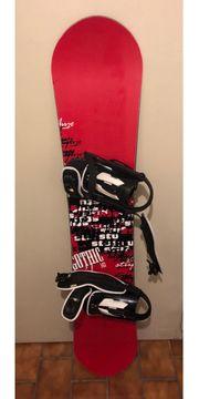 Snowboard mit Bindung von stuf