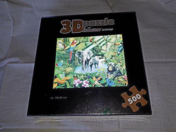 Puzzel 3D Dschungel 50x40cm, 500 Stück. - Bammental - Puzzel 3D Dschungel mit Visual Echo Technology. 50x40cm, 500 Stück. - Bammental