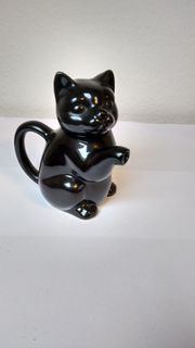 schwarze Katze - Milchkännchen